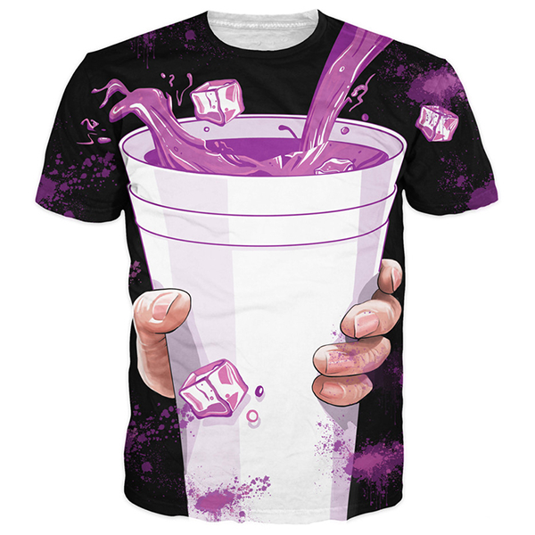 Purple Drank 3D Printed Shirts