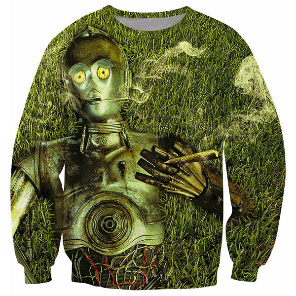 C-3PO Star Wars On The Grass Smoking Shirts