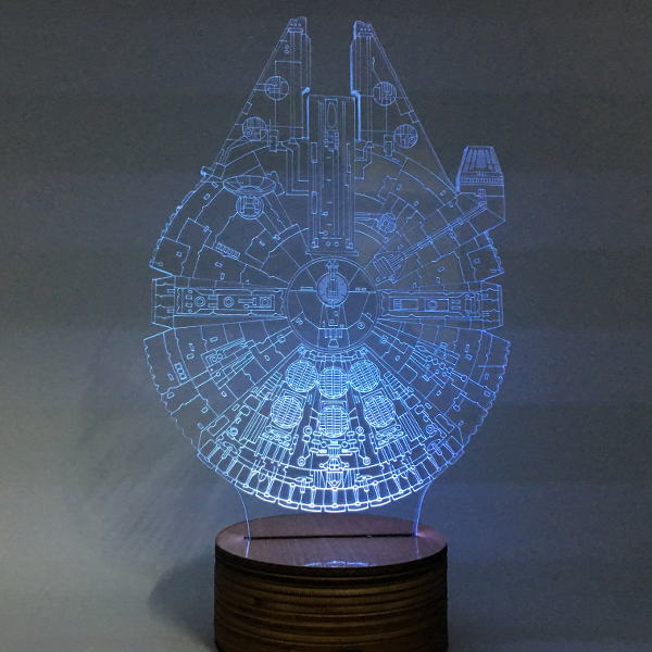 Millennnium Falcon Color Changing Light 3D Lamp