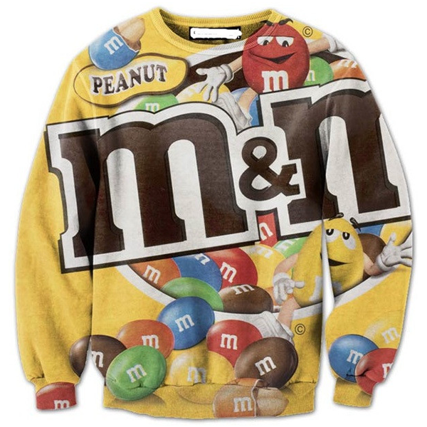 3D M&M Peanuts Candy Print Shirts