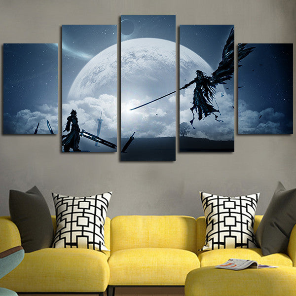 Final Fantasy Cloud Vs Sephiroth Wall Art Canvas