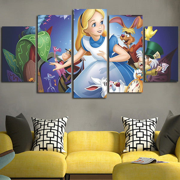 Alice In Wonderland Wall Art alice in wonderland wall art canvas – aio hacks