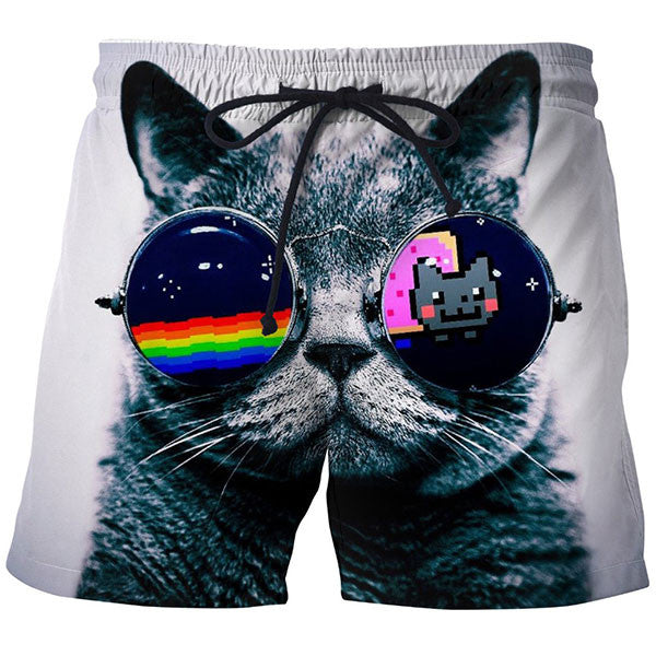 Cat Glass Shorts