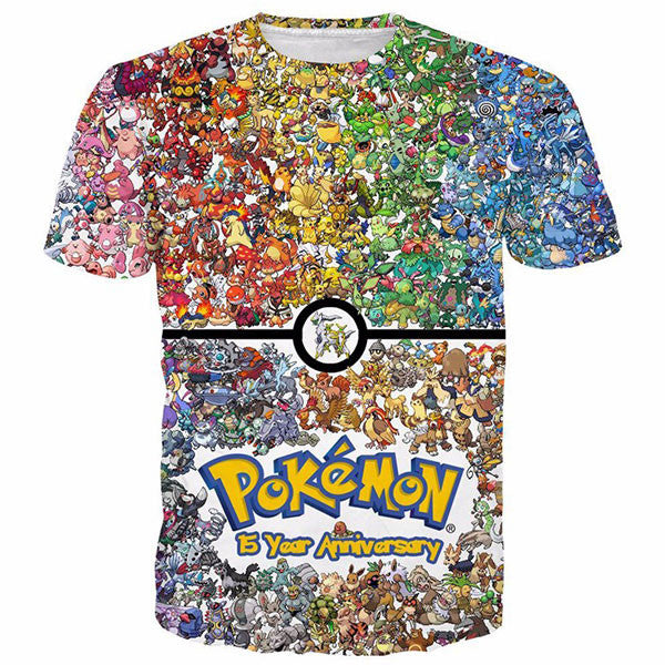 Cute Pokemon Prints Shirts