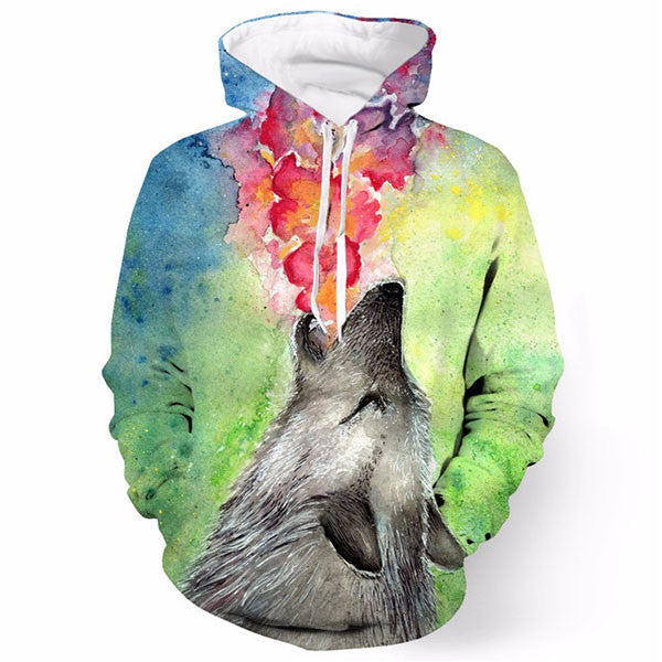 Wolf Painting Call 3D Shirts