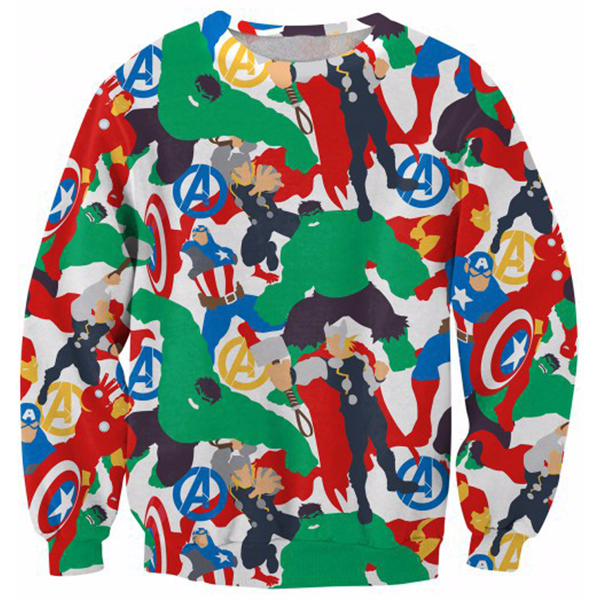 The Avengers Draw Printed Shirts