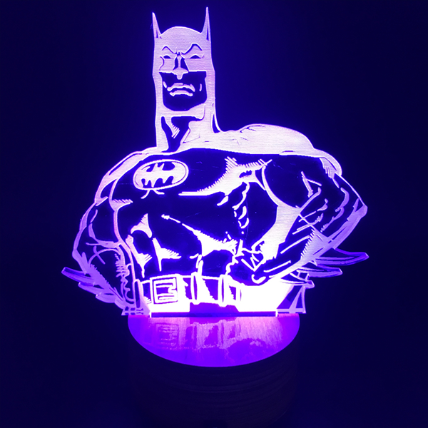 Batman Color Changing Light 3D Lamp