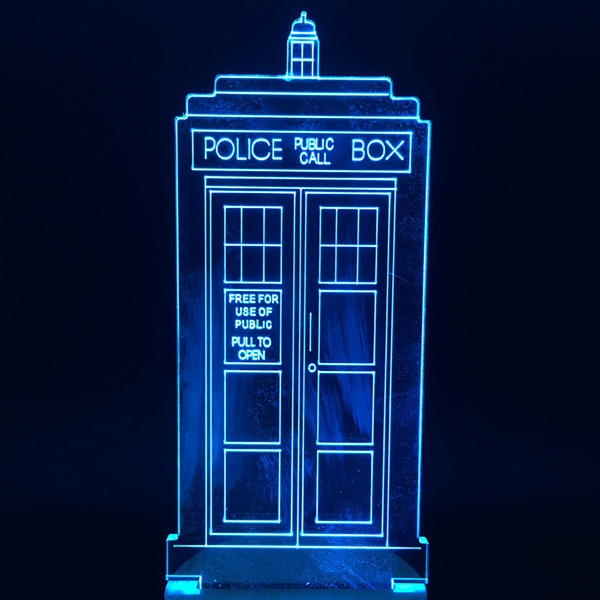 TARDIS Color Changing Light 3D Lamp