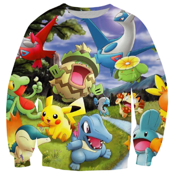 Pokemon Anime Printed Shirts