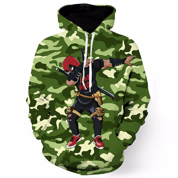 Cool Badass Deadpool Camouflage 3D Shirts