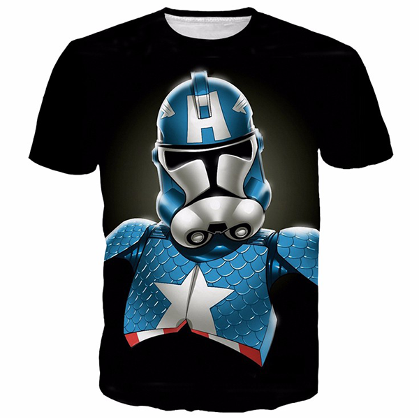Superhero Captain America Star Wars Shirts