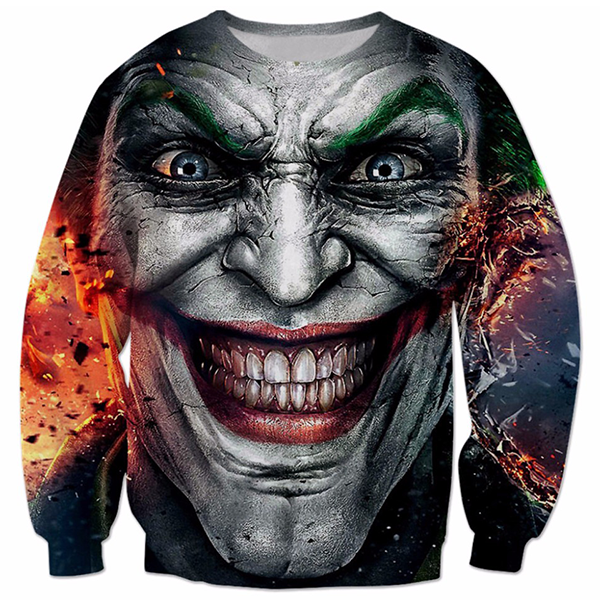 Joker Face 3D Printed Shirts