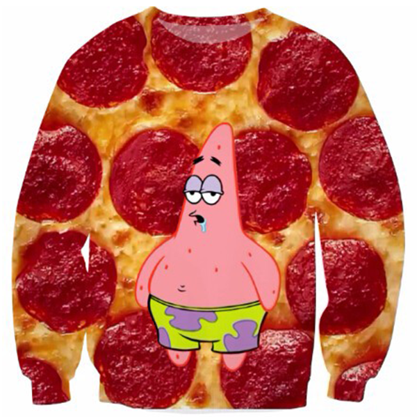 Patrick Star Drooling Pizza Pepperoni Shirts