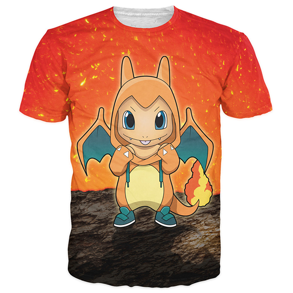 Charmander Cute 3D Printed Shirts