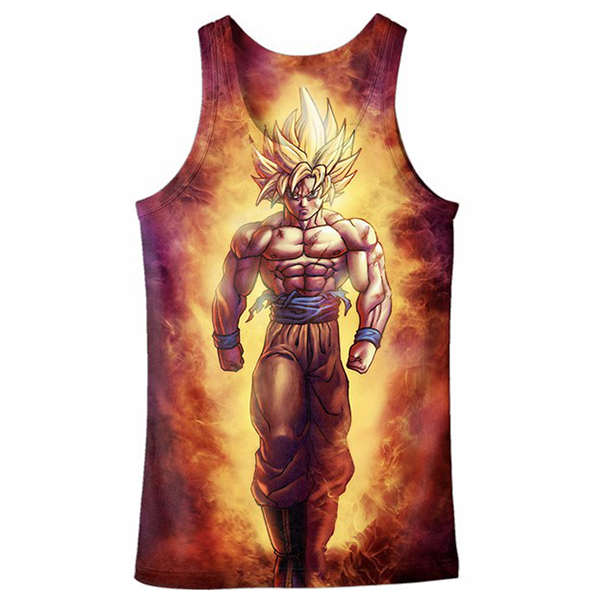 Goku Tank top Printed Shirts