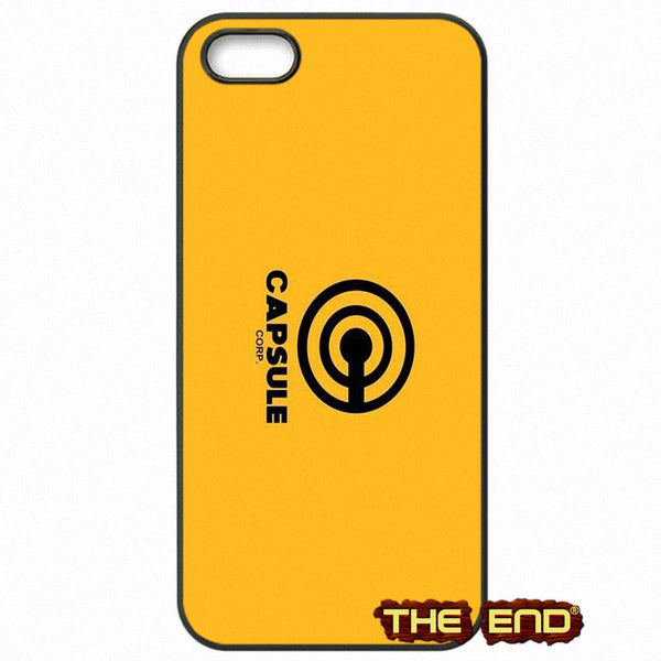 Dragon Ball Z Capsule Corp Yellow Background Phone Case
