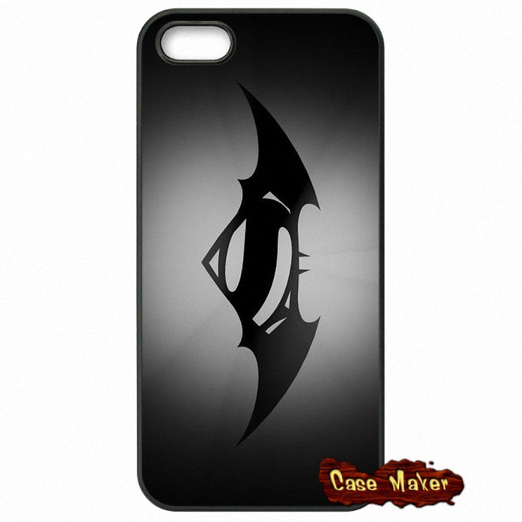 Batman vs Superman Logo Black Phone Case