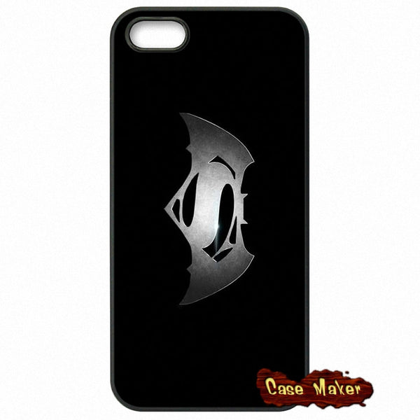 Batman vs Superman Logo Gray Phone Case