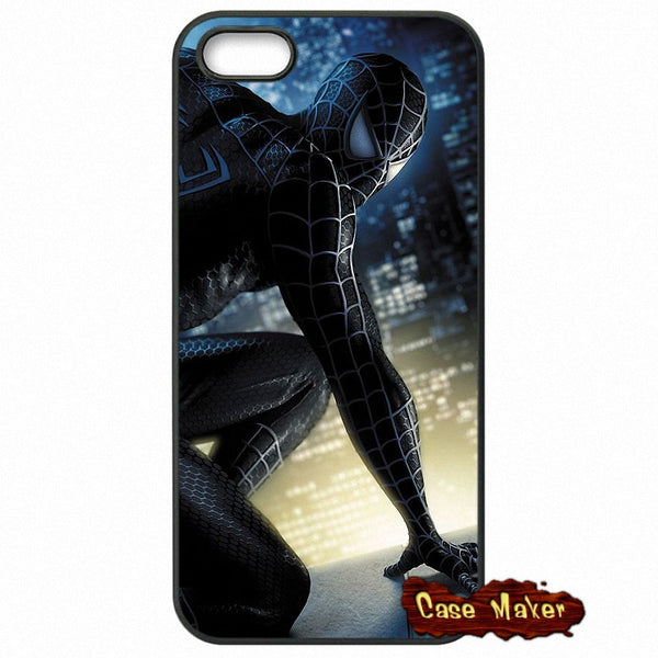 Black Spiderman Wallpaper Phone Case