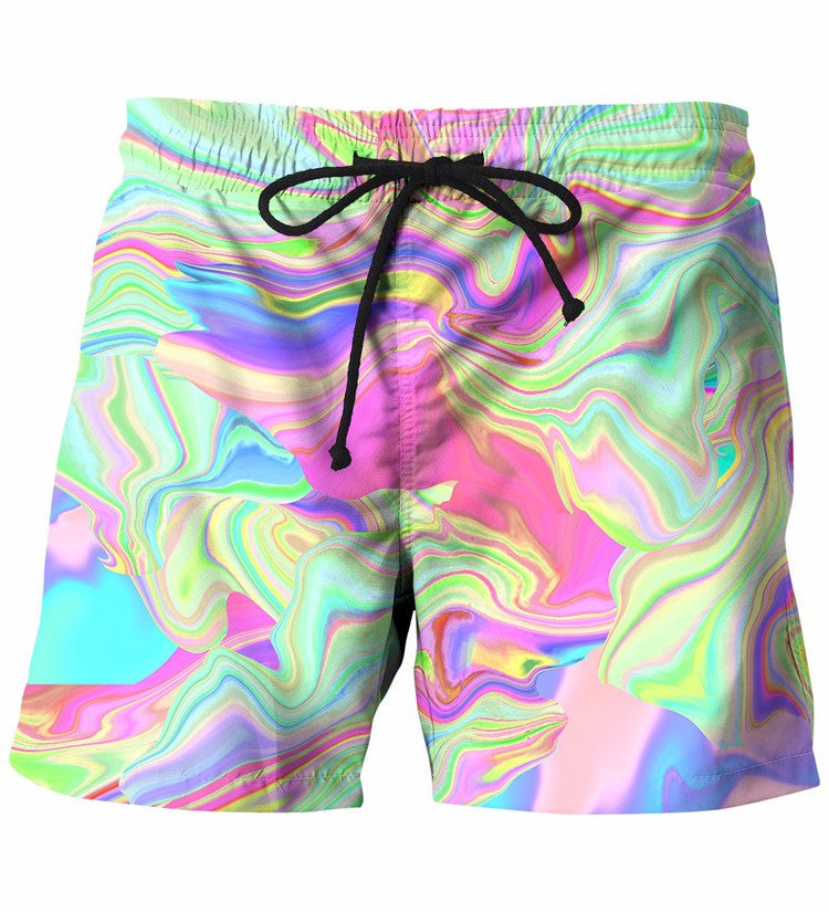 Tie Dye Prints Beach Shorts