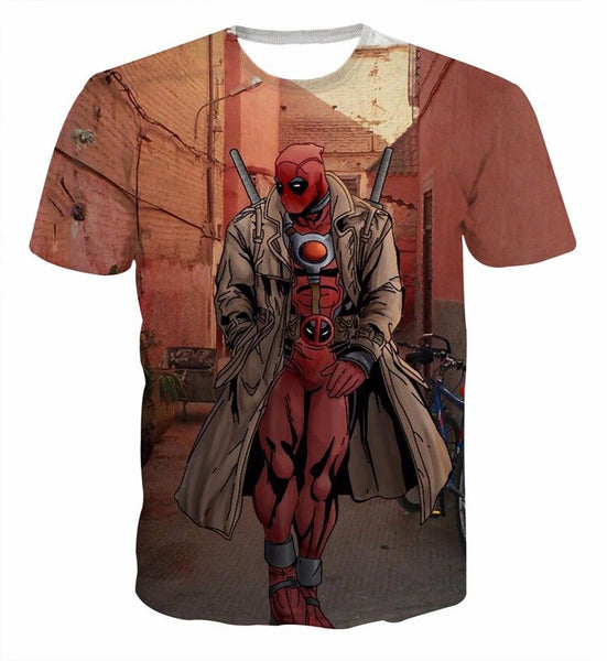 Deadpool Walk 3D Printed Shirts