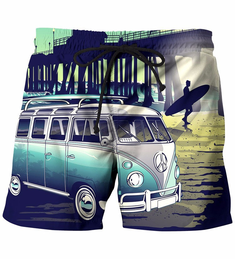 Bus In Sunset Shorts