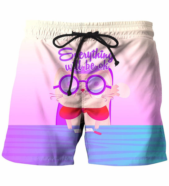 Everything Will Be Ok Letters Shorts