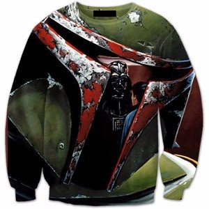 Darth Vader Green Printed Shirts