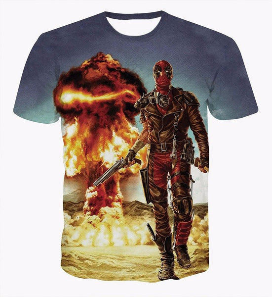 Deadpool Nuke 3D Printed Shirts
