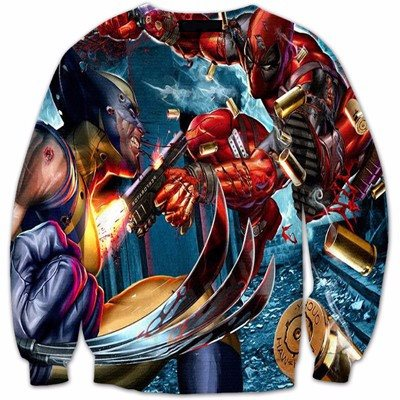 Deadpool vs Wolverine 3D Shirts