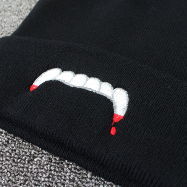 Vampire Teeth Knitted Baseball Hat