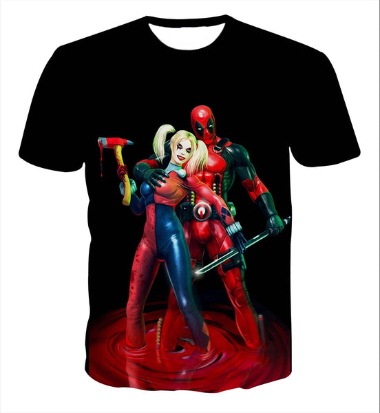 Deadpool Sexy Girl 3D Printed Shirts