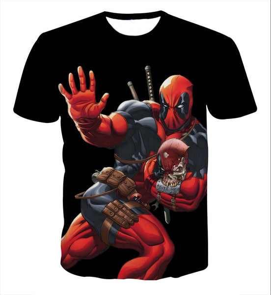 Deadpool Style 3D Printed Shirts