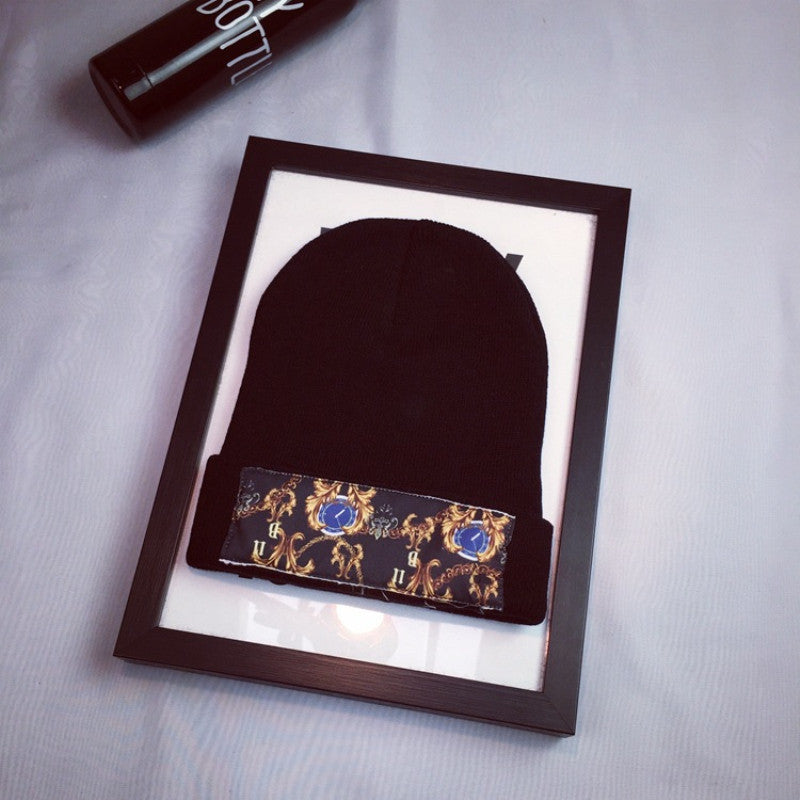 Fashion Embroidered Knit Hat