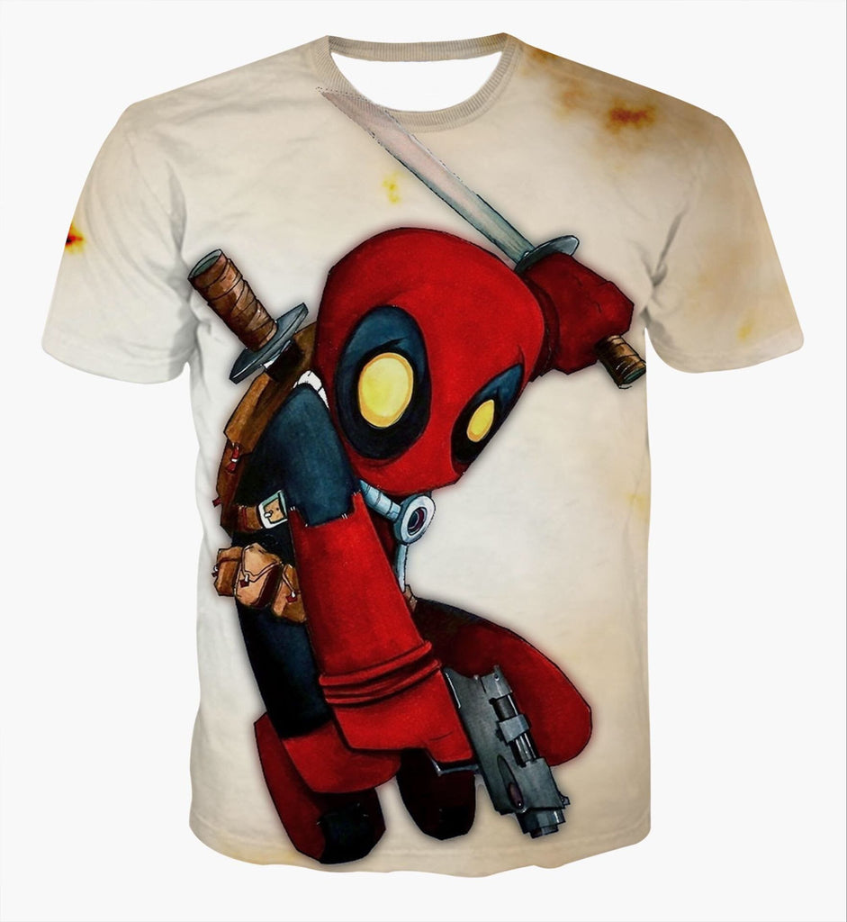 Deadpool Kid 3D Printed Shirts