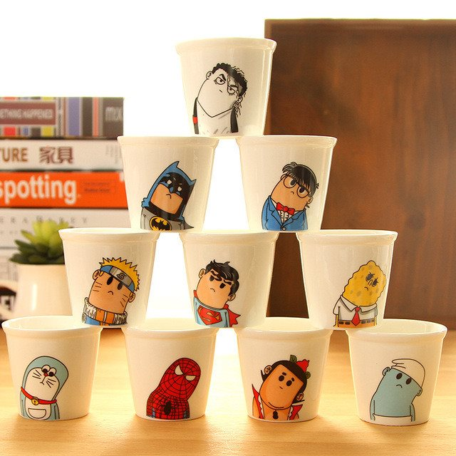 Hero Cute Ceramic Cup