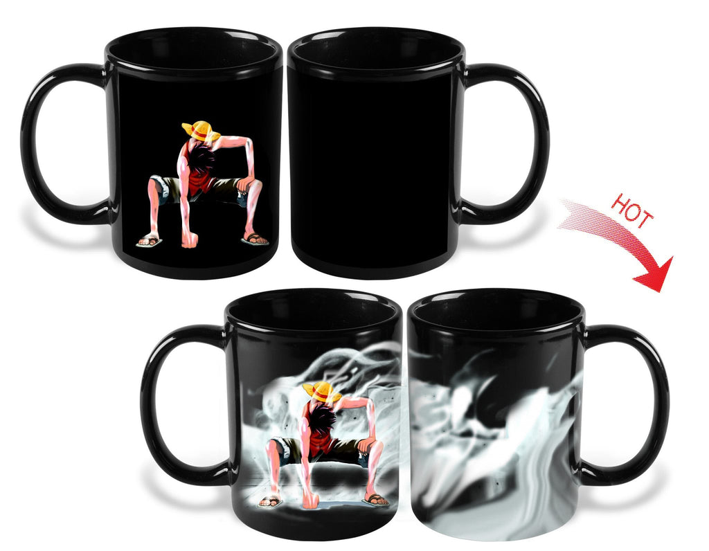 Heat Color Changing One Piece Luffy Mugs