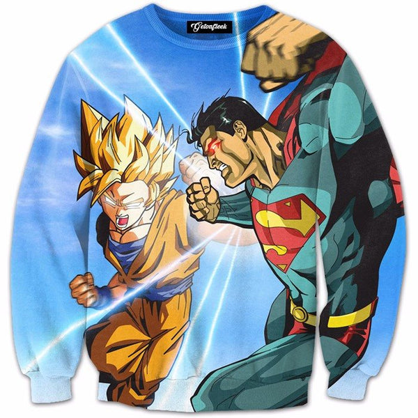 Battle of Goku & Supperman 3D Shirts
