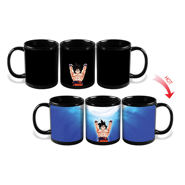 Heat Color Changing Goku Spirit Bomb Mugs