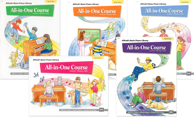 Alfred's Basic Piano All-in-One Course Covers