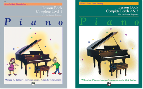 Alfred's Basic Piano Complete Levels Course Covers
