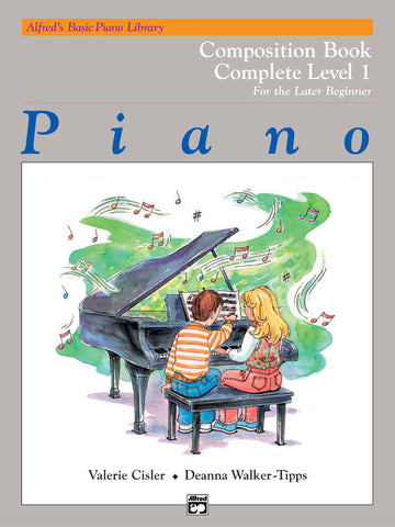 Alfred's Basic Piano Library: Composition Book Complete 1 (1A/1B)