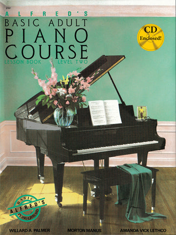 Alfred's Basic Adult Piano Course: Lesson Book 2 & CD