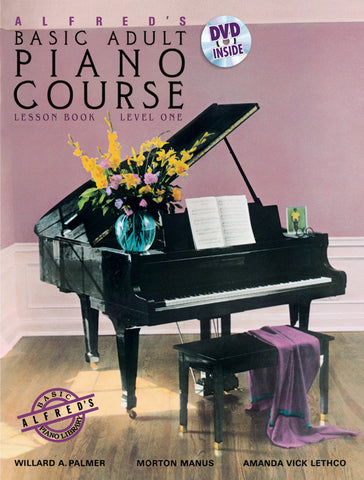 Alfred's Basic Adult Piano Course, Lesson Book 1 & DVD