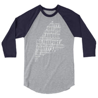 Gritty's Locations design 3/4 sleeve raglan shirt