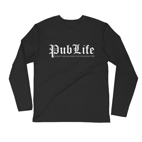 Pub Life design Long Sleeve Fitted Crew
