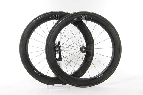 2016 3T Mercurio 60 LTD Stealth Carbon Tubular Wheel Set - Full Warranty - My Bike Shop  - 1
