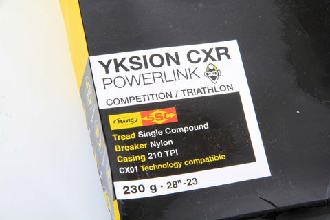 "Mavic Yksion CXR Powerlink Competition/Triathlon 28""-23 Tubular Tire - My Bike Shop  - 2"