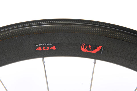 2012 Zipp 404 Firecrest Carbon Clincher Wheel Set - 10-speed - Pre-Owned