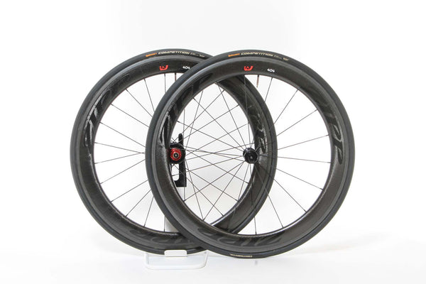 2015 Zipp 404 Firecrest Tubular Wheel Set w/ Tires - Full Warranty - My Bike Shop  - 1